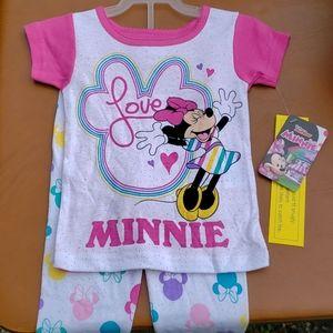 NWT Disney Jr. Minnie Mouse 2 pc Pajama Set Sz 3T